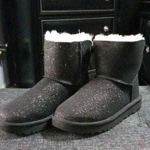 UGG Black Glitter Boots BNWT- 6
